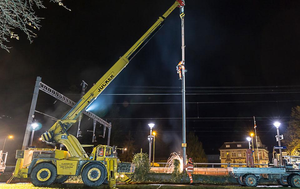 SBB Mastbau Wesen Spezialtransporte