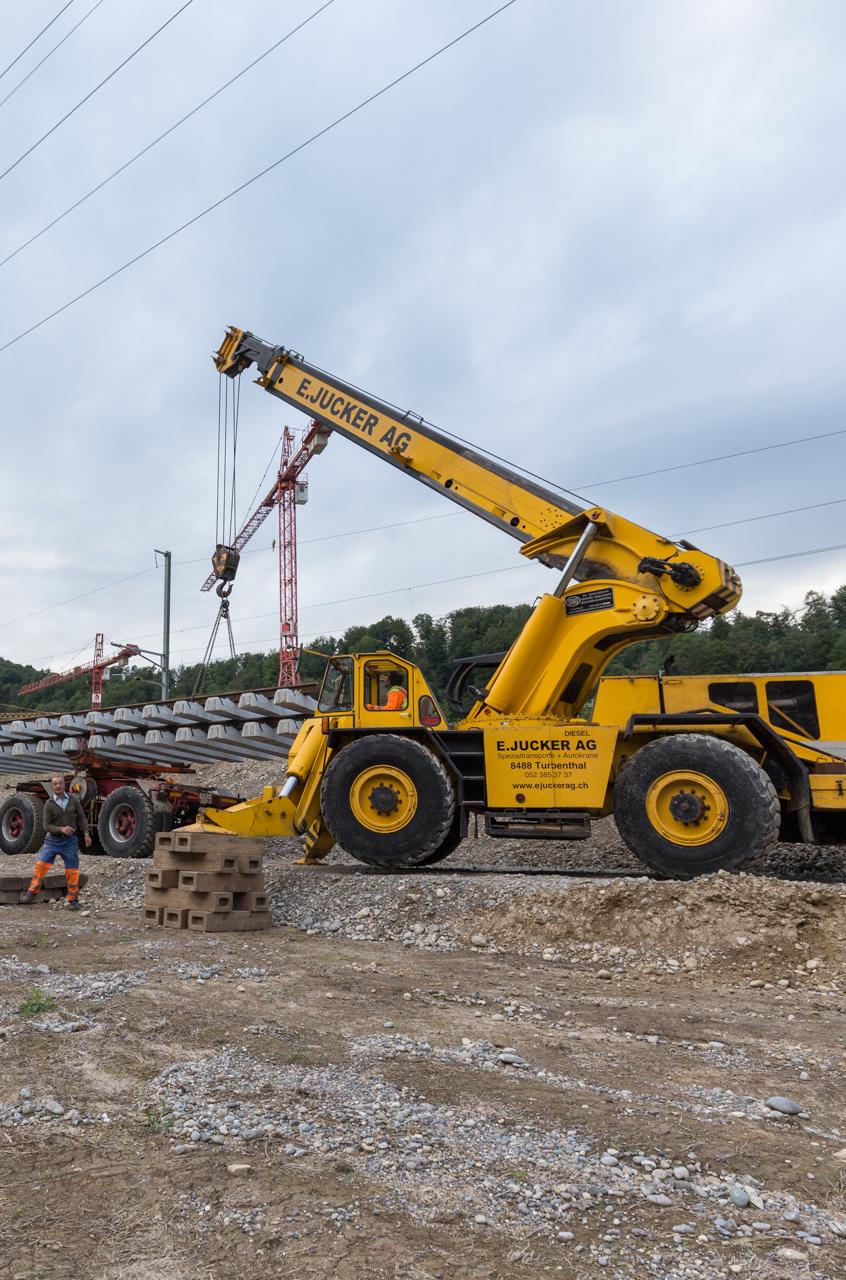 Kranarbeiten Bahnarbeiten Jucker Spezialtransporte AG