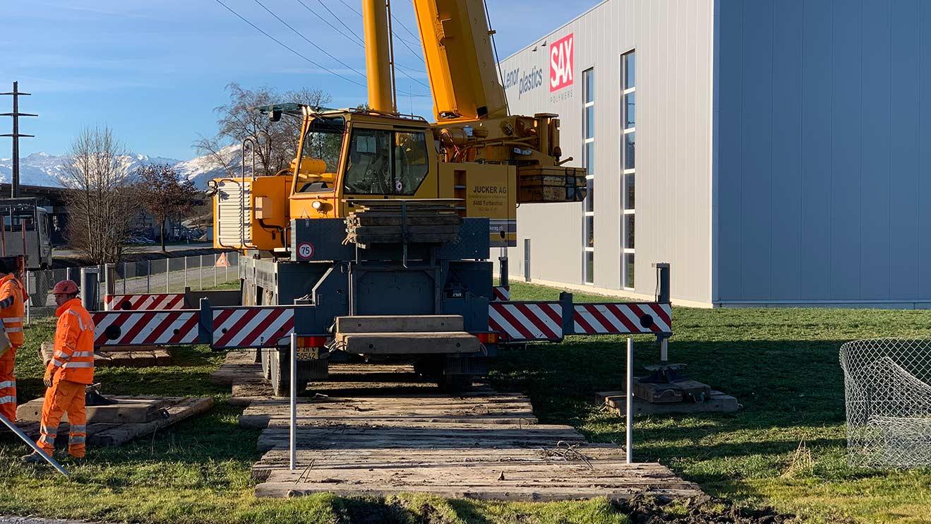 Masten abbrechen Spezialtransporte Jucker AG