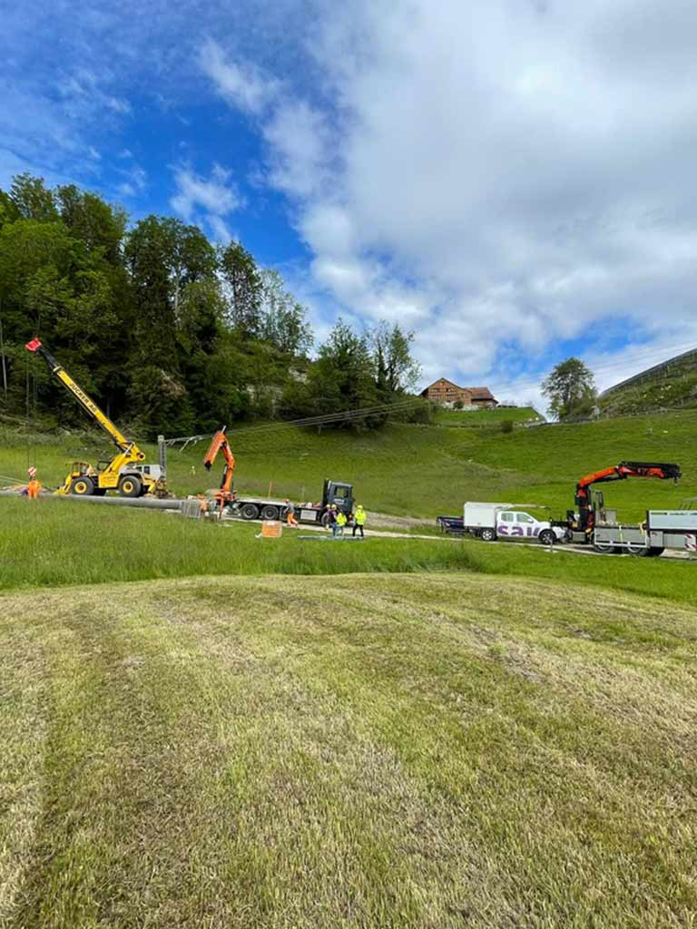 Mastbau Schwertransporte Jucker AG Turbenthal