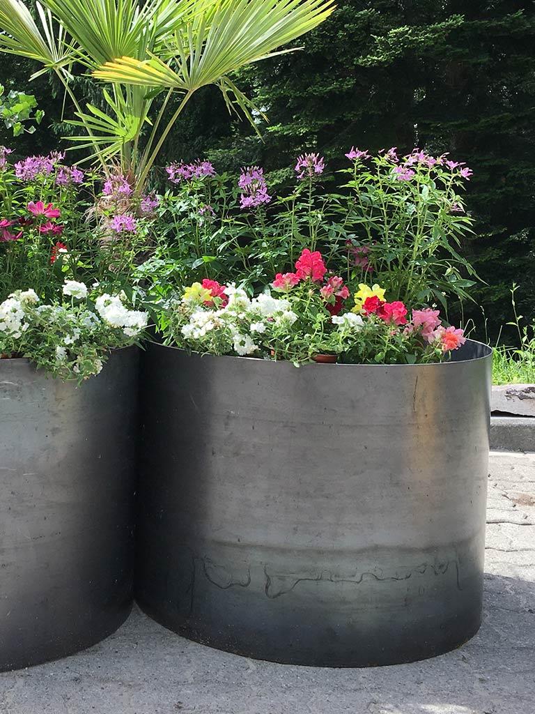 Blumenkübel Stahl Sonderanfertigung für Gartenbau