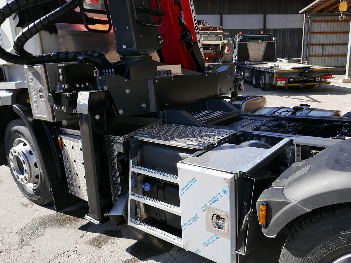 Fahrzeugumbauten Neukontruktionen LKW Palfinger Schweiz